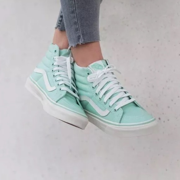 f1d57c044b Vans SK8-Hi Slim Gossamer Green Shoes